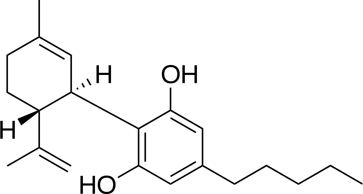 Molécula de CBD